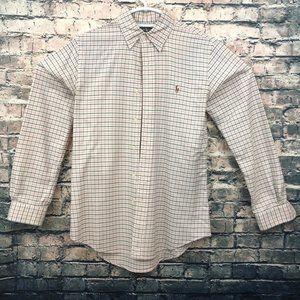 Ralph Lauren Long Sleeve Dress Shirt Mens Small